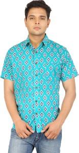 Bannasa.com Men's Printed Casual Multicolor Shirt