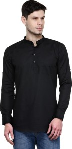 Being Fab Men's Solid Casual Black Shirt