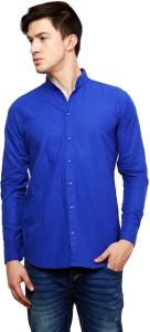 Dennis Lingo Men's Solid Casual Blue Shirt
