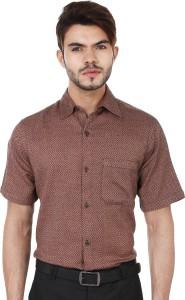 Reevolution Men's Woven Casual Brown, Black Shirt