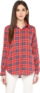 Mayra Women's Checkered Casual Multicolor Shirt