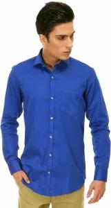 c2d5bf02aef8 Variksh Men s Solid Casual Dark Blue Shirt Best Price in India ...