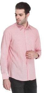 Reevolution Men's Checkered Casual Red, White Shirt