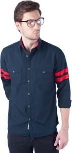 Rodid Men's Solid Casual Dark Blue Shirt