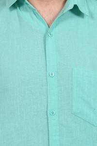 b654b17d BRULE Men s Solid Casual Linen Light Green Shirt Best Price in India ...