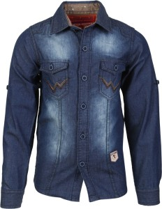 17a8681c42d72 Lilliput Boy s Solid Casual Dark Blue Shirt Best Price in India ...