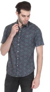 Reevolution Men's Printed Casual Multicolor Shirt
