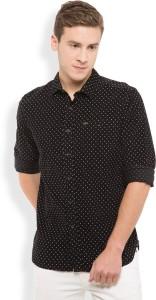 Locomotive Men's Printed Casual Black Shirt