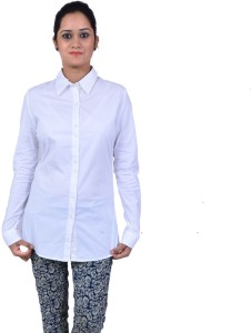 db6fe7b68bc7 Nexq Women s Solid Casual White Shirt Best Price in India