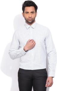 Arrow Men's Checkered Formal White Shirt