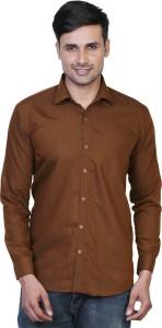 6ada9e00d9f6 Variksh Men s Solid Casual Brown Shirt Best Price in India