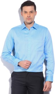 Arrow Men's Solid Formal Blue Shirt