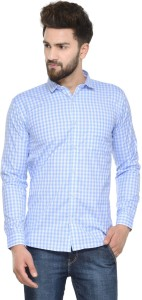 Being Fab Men's Checkered Casual Blue, White Shirt