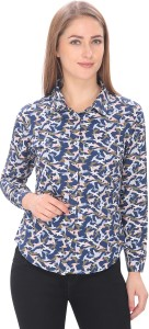 ALFA FASHION Women's Animal Print Casual Multicolor Shirt