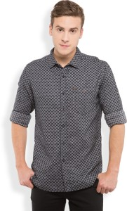Locomotive Men's Solid Casual Black, White Shirt