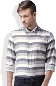 3d9753ef2 Mast & Harbour Men's Striped Casual Dark Blue, White Shirt
