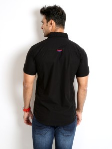 5c12aa0b Rodid Men s Solid Casual Black Shirt Best Price in India | Rodid Men ...