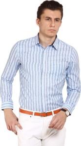 Brooklyn Blues Men's Striped Casual Multicolor Shirt