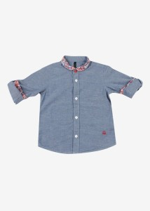 ef17f9994 United Colors of Benetton Boys Solid Casual Blue Shirt Best Price in India