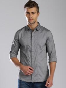 HRX by Hrithik Roshan Men's Solid Casual Grey Shirt