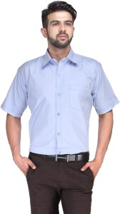 Koolpals Men Checkered Formal Blue Shirt