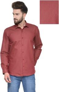 Being Fab Men's Polka Print Casual Maroon Shirt
