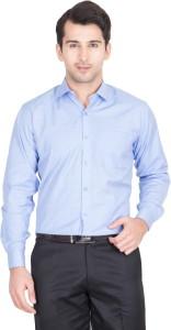 John Hupper Men's Solid Formal Light Blue Shirt