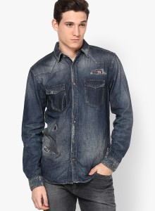3b300b009d Jack Jones Men s Solid Casual Blue Shirt Best Price in India