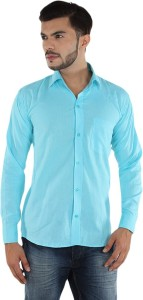 7a72d8bc7e Akaas Men s Solid Formal Light Blue Shirt Best Price in India ...