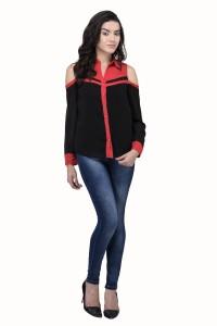 Triraj Women's Solid Casual Multicolor Shirt