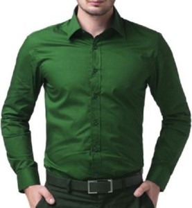 6f65adf33d9c7 PSK Men s Solid Formal Green Shirt Best Price in India | PSK Men s ...