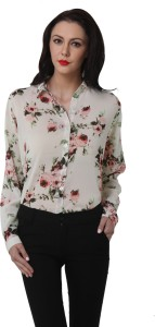 Purys Women's Floral Print Casual Multicolor Shirt