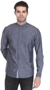 Reevolution Men's Solid Casual Grey Shirt