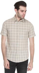 Reevolution Men's Checkered Casual Green Shirt