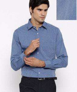 ac688aa74d93a Oshano Men s Solid Casual Blue Blue Shirt Best Price in India ...