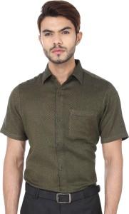 Reevolution Men's Woven Casual Green, Black Shirt