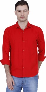 267357ab BRULE Men s Solid Casual Linen Red Shirt Best Price in India | BRULE ...