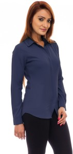 c695d4c1e9924 Femninora Women s Solid Formal Dark Blue Shirt Best Price in India ...