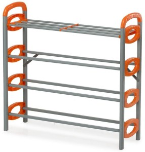 60d43e99794 Lowprice Online Aluminium Standard Shoe Rack Grey 4 Shelves Best ...