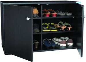 91837ec0e5b Nilkamal Wooden Shoe Cabinet Black Best Price in India