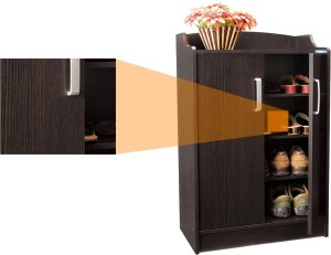 10a5b5584b7 Nilkamal Wooden Shoe Cabinet Brown Best Price in India