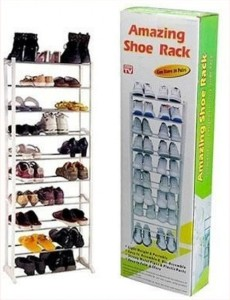 Divinext Stainless Steel Collapsible Shoe Stand