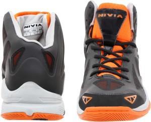 1dafb7c1a9db Nivia Typhoon Basketball Shoes Black Orange Best Price in India ...