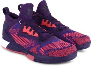 ef1356c9768 Adidas D LILLARD 2 BOOST PRIMEKNIT Men Basketball Shoes Pink Purple ...