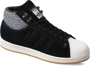 regarder d037e cba9e Adidas Originals PRO MODEL BT Mid Ankle SneakersBlack, White