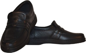tsf black leather formal shoes