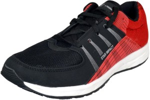 SEGA TECHNO Red Black Running Shoes