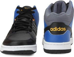 661267a4945 Adidas Neo HOOPS JUMPSHOT MID Mid Ankle Sneakers Black Blue Best ...