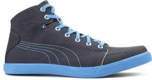 3c0b748cfd9f Puma Drongos DP Men Mid Ankle Canvas Sneakers Black Blue Best Price ...