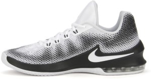 5a9fb16ff256 Nike AIR MAX INFURIATE LOW Basketball Shoes Black White Best Price ...